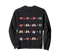 Order Of Operations Quiz Funny Valentine Math Tea Shirts Sweatshirt Black
