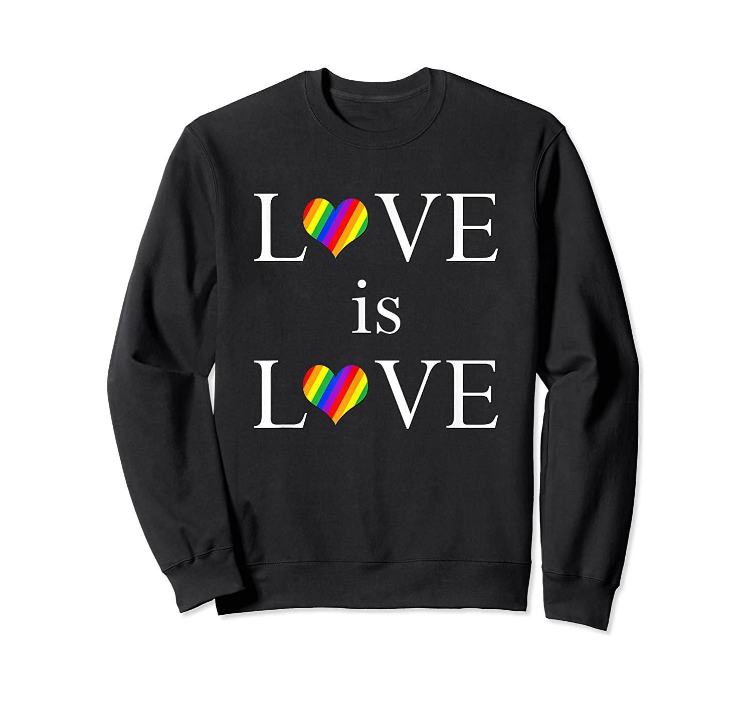 Love Is Love Lgbt Rights Shirts Crewneck Sweater