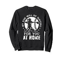 Baseball Mom Apparel Baseball Dad Merchandise Premium T-shirt Sweatshirt Black