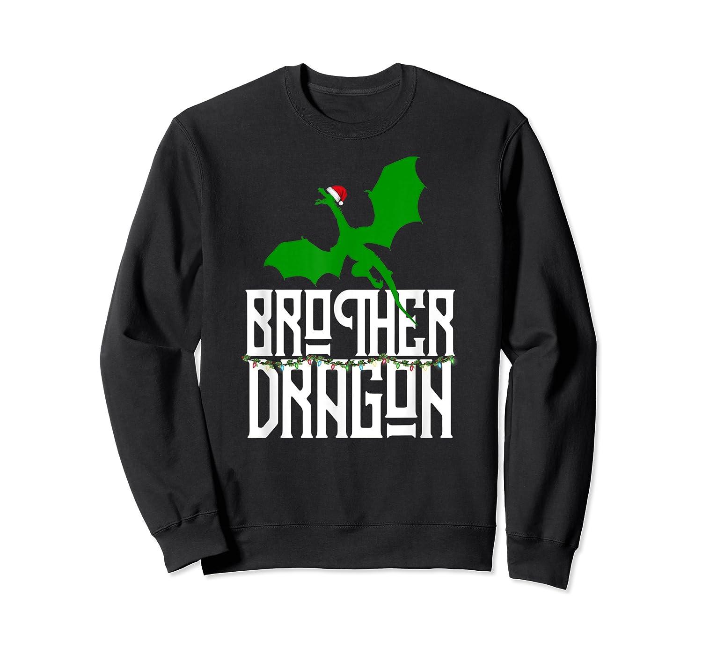 Brother Dragon Christmas Shirt Matching Family Tribe Son Boy T-shirt Crewneck Sweater