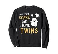Funny Parents Of Twins Shirt Halloween Gift Sweatshirt Black