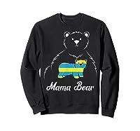 Down Syndrome Mom Awareness Trisomy 21 Gold Blue Ribbon Gift T-shirt Sweatshirt Black