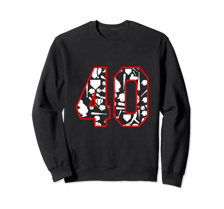 40 Year Old Birthday Baseball Shirts Crewneck Sweater