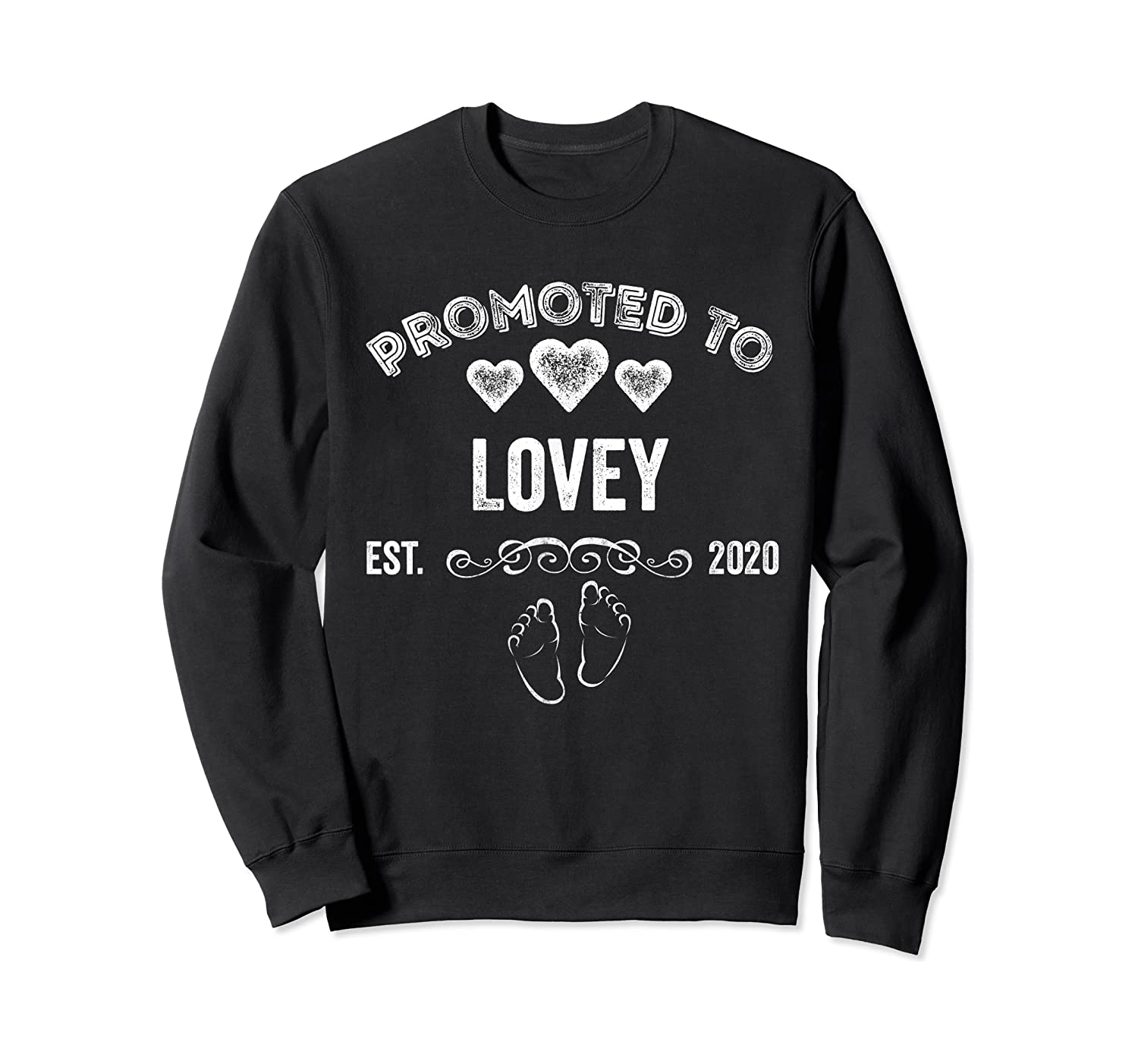 Promoted To Lovey Est 2020 Shirt Gift For Mom T-shirt Crewneck Sweater