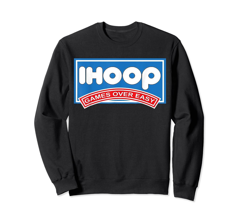 Ihoop Fun Basketball Shirt - Games Over Easy Graphic T-shirt Crewneck Sweater