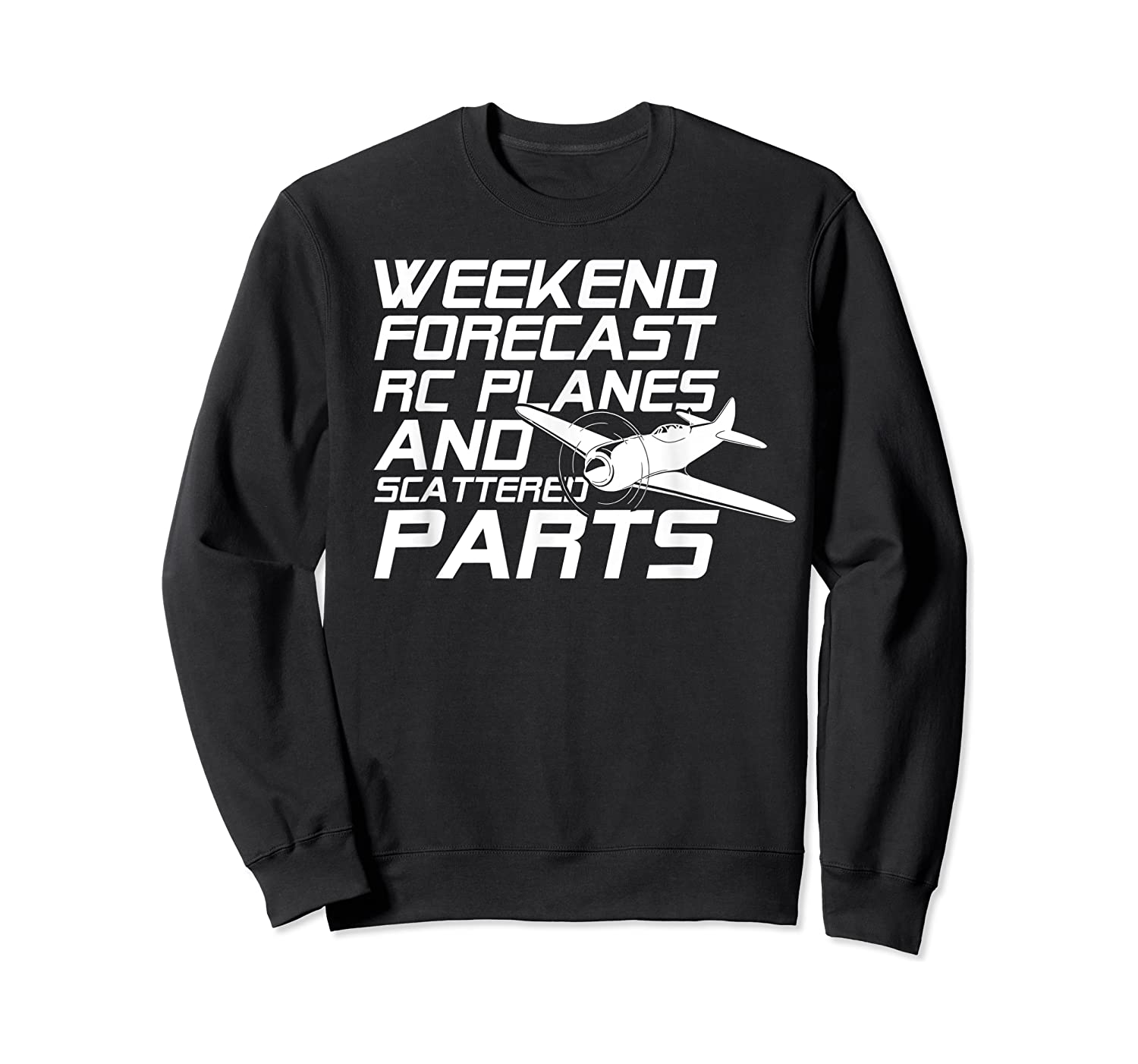 Rc Plane T-shirt For Guys Rc Planes And Scattered Parts Crewneck Sweater