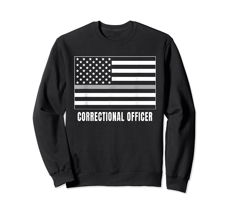 Correctional Officer Shirt Thin Gray Line T-shirt Gift Crewneck Sweater