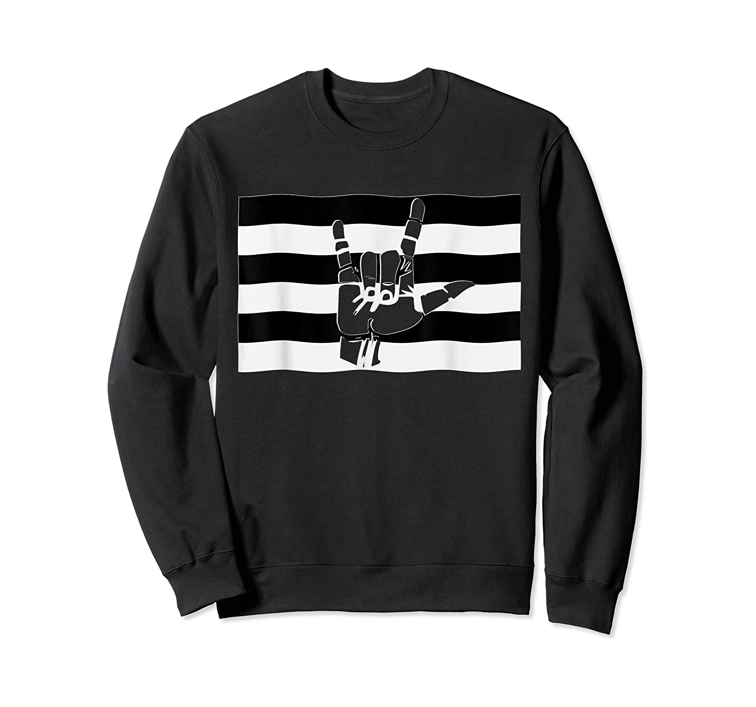 Straight Pride Flag And Love Sign Inside, Heterosexuals Gift Shirts Crewneck Sweater
