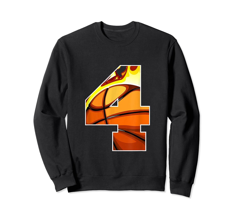 Number 4 Basketball Gift T-shirt Crewneck Sweater