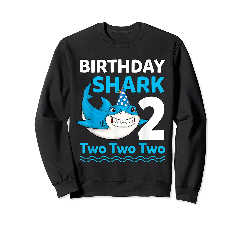 Birthday Shark 2017 2 Years Old Gift For Boy Girl Shirts Crewneck Sweater