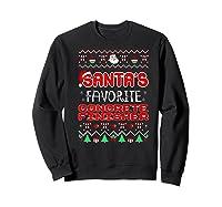 Santas Favorite Concrete Finisher Christmas Ugly Sweater Premium T-shirt Sweatshirt Black