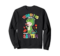 Roaring Into Kindergarten Dinosaur Shirt First Day School Premium T-shirt Sweatshirt Black