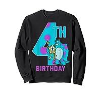 Pixar Monsters Inc Mike Sully Happy 4th Birthday Shirts Sweatshirt Black