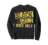 Black Gold Game Day Group Shirt For High School Football T-shirt Sweatshirt Black