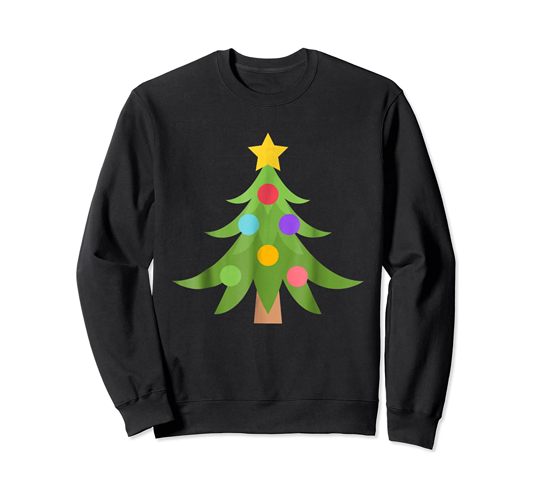 Christmas Tree Emoji Shirts Crewneck Sweater