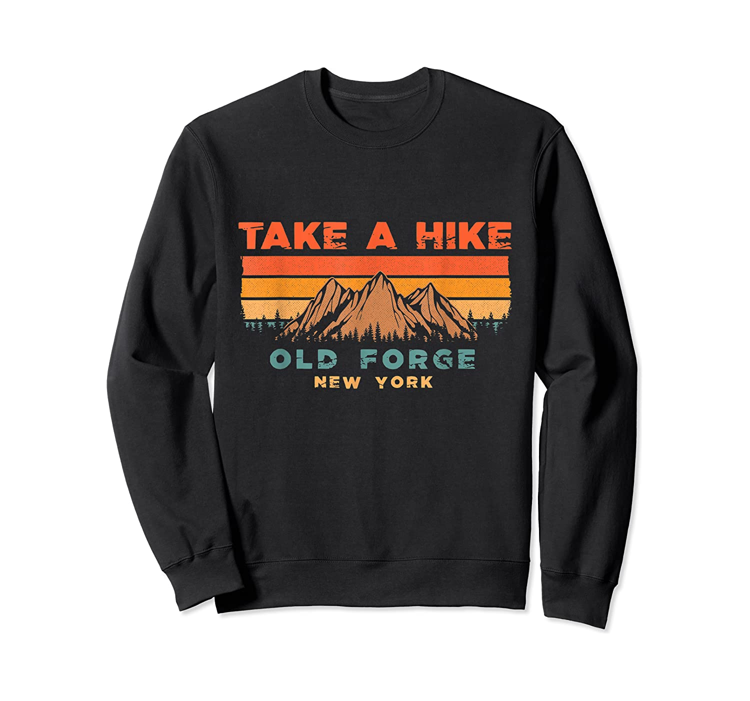 New York Vintage Take A Hike Old Forge Moutain T-shirt Crewneck Sweater