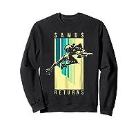 Nintendo Metroid Samus Returns Spotlight Graphic T-shirt Sweatshirt Black