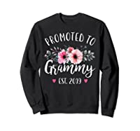 Promoted To Grammy Est 2019 Baby Announce Shirts Sweatshirt Black