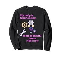 Fibromyalgia Gift Chronic Illness Shirts Sweatshirt Black