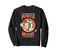 Tom And Jerry Power Mouse T-shirt Sweatshirt Black