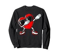 Dabbing Heart Valentines Day Love Dab Dance Gifts T-shirt Sweatshirt Black