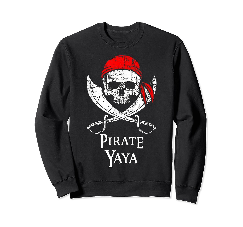 Pirate Yaya Skull And Crossbones Flag T-shirt Crewneck Sweater