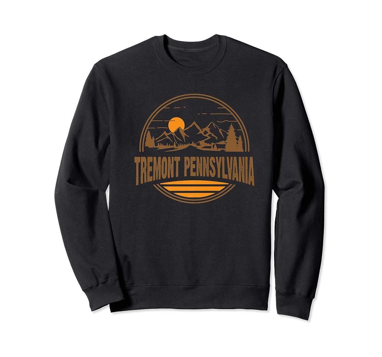 Vintage Tremont, Pennsylvania Mountain Hiking Print Shirts Crewneck Sweater