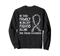 In This Family Nobody Fights Alone Rare Disease T-shirt Sweatshirt Black