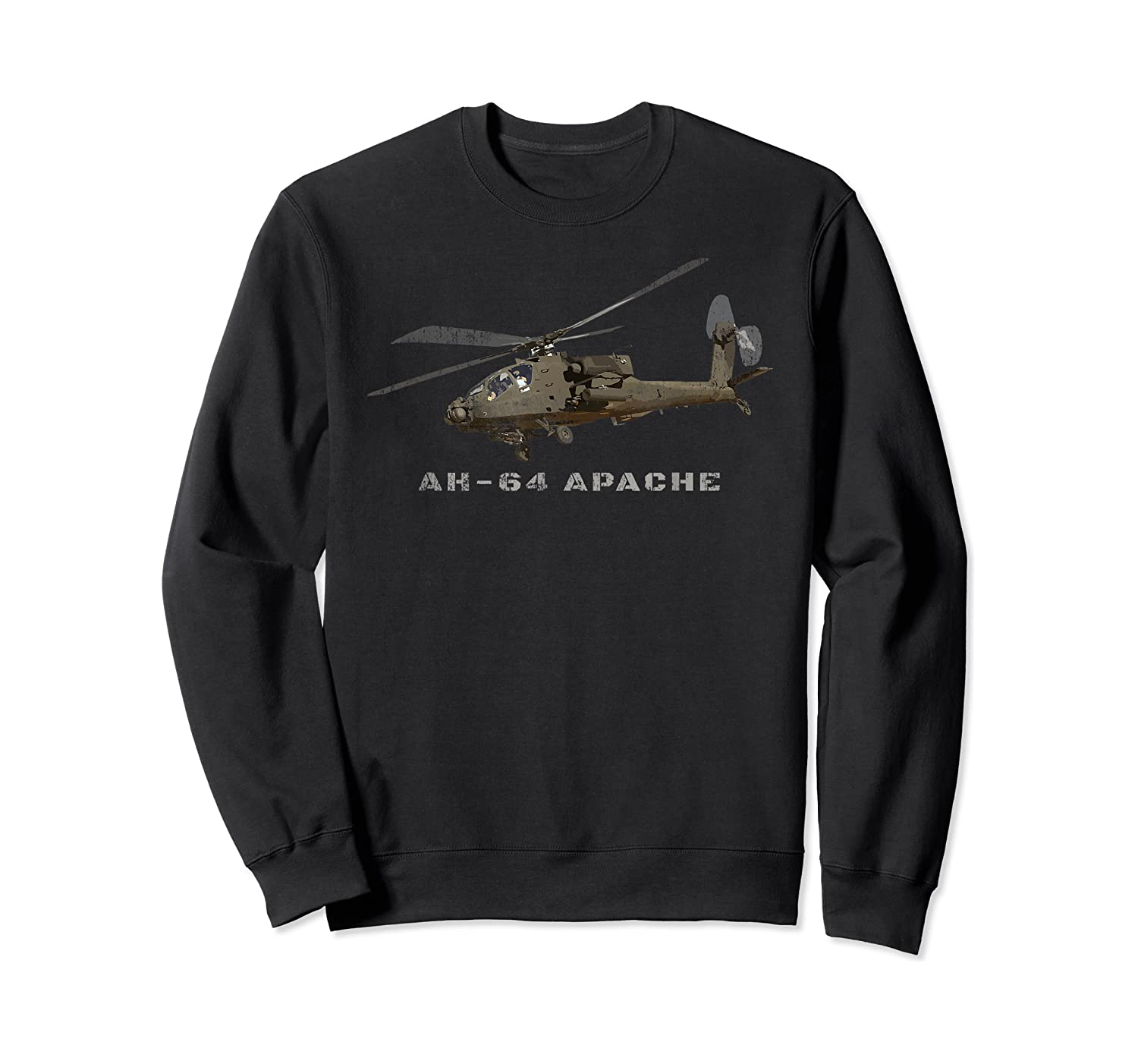 Ah 64 Apache Army Attack Helicopter Gift Shirts Crewneck Sweater
