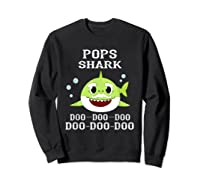 Pops Shark Doo Doo Doo Matching Family Shark Shirts Sweatshirt Black