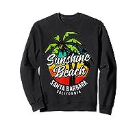 California Hawaii Surf Surfing Board Beach Vintage Retro Shirts Sweatshirt Black