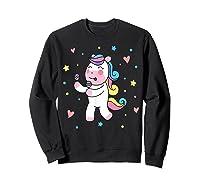 Cute Unicorn, Gift For Unicorn Lover Unicorn Lover Gift Shirts Sweatshirt Black