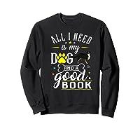 Bernese Mountain Dog Gift Funny Saying Book Love Reading Premium T-shirt Sweatshirt Black
