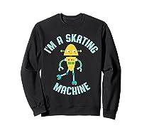Roller Skating Robot For And Girls Shirts Sweatshirt Black