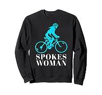 Spokes Woman Cycling Shirts Sweatshirt Black