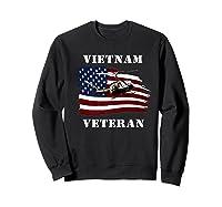 Vietnam Veterans Uh 1 Huey Helicopter American Flag Shirts Sweatshirt Black