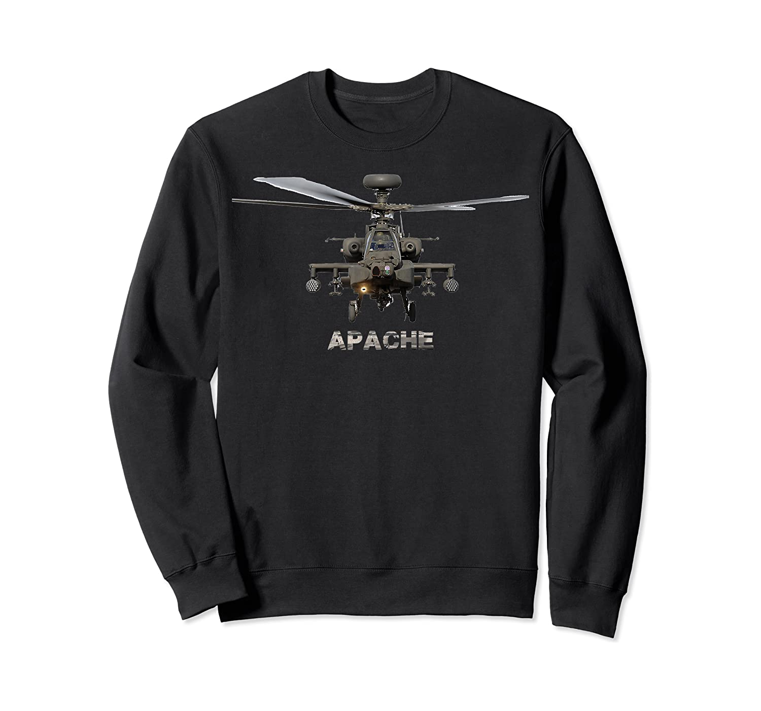 Ah 64 Apache Helicopter T-shirt Crewneck Sweater