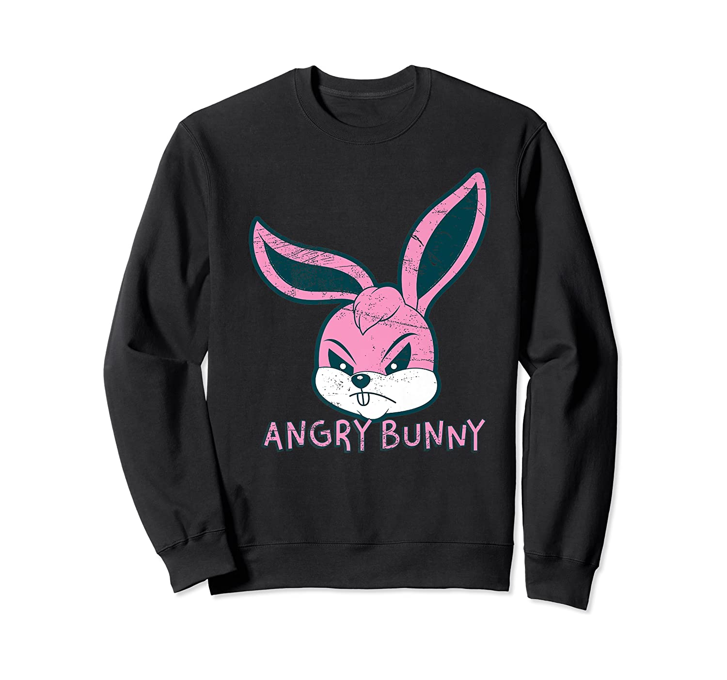 Angry Bunny Rabbit Lovers Cute Bunnies Happy Easter Day Gift Shirts Crewneck Sweater