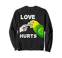 Love Hurts Yellow Head Amazon Parrot Biting Finger Shirts Sweatshirt Black