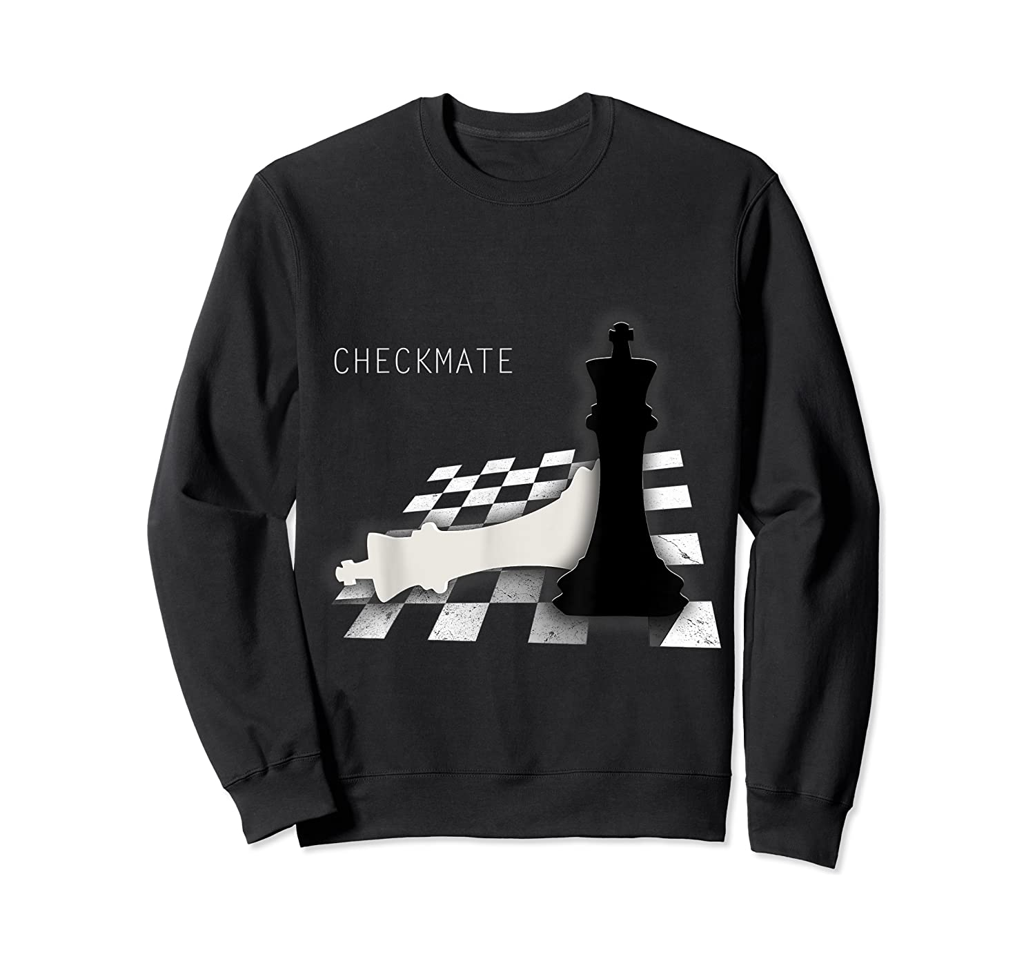 Checkmate Funny Cute Gift For Cool Chess Player Shirts Crewneck Sweater