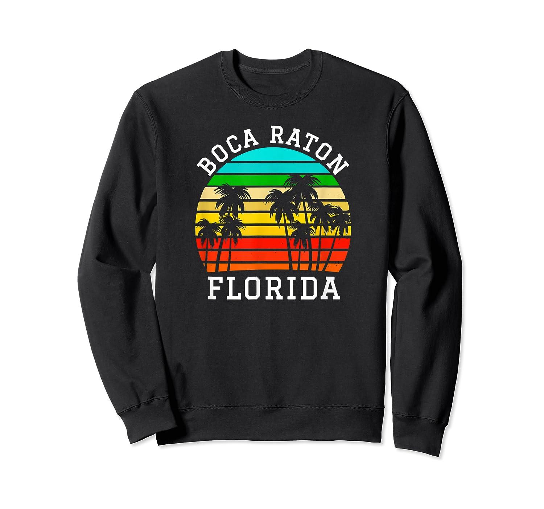 Boca Raton Florida Palm Trees Sunset Matching Vacation T-shirt Crewneck Sweater