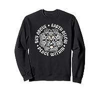 Sky Above Earth Below Peace Within Goat Yoga Cute Funny Premium T-shirt Sweatshirt Black