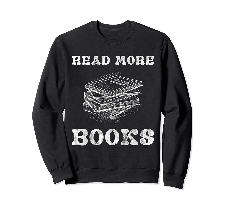 Read More Books English Tea School Reading Gift Shirts Crewneck Sweater