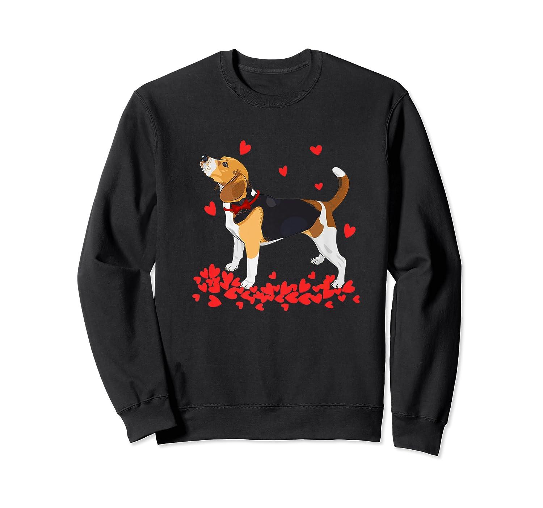 I Love My Beagle T Shirt Valentine Gift For Beagle Crewneck Sweater