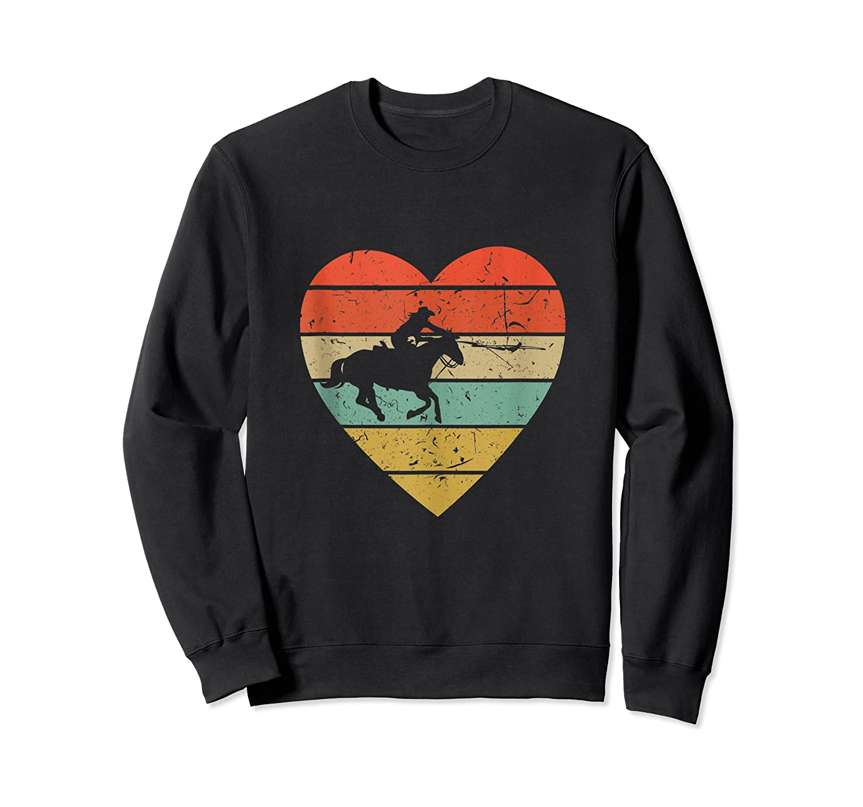 Roping Vintage Design Retro Horse Calf Roper Heart Sport Fan Tank Top Shirts Crewneck Sweater