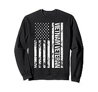 American Flag Vietnam Veteran T-shirt Sweatshirt Black
