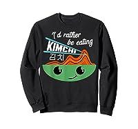 Kimchi Cute Korean Ferted Food Shirts Sweatshirt Black