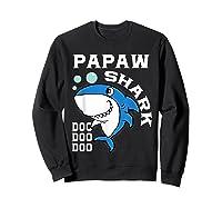 Papaw Shark Halloween Christmas Gift Shirts Sweatshirt Black