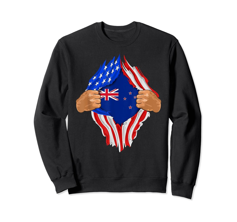 New Zealand Blood Inside Me T-shirt   New Zealand Flag Gift Crewneck Sweater