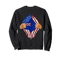 New Zealand Blood Inside Me T-shirt   New Zealand Flag Gift Sweatshirt Black